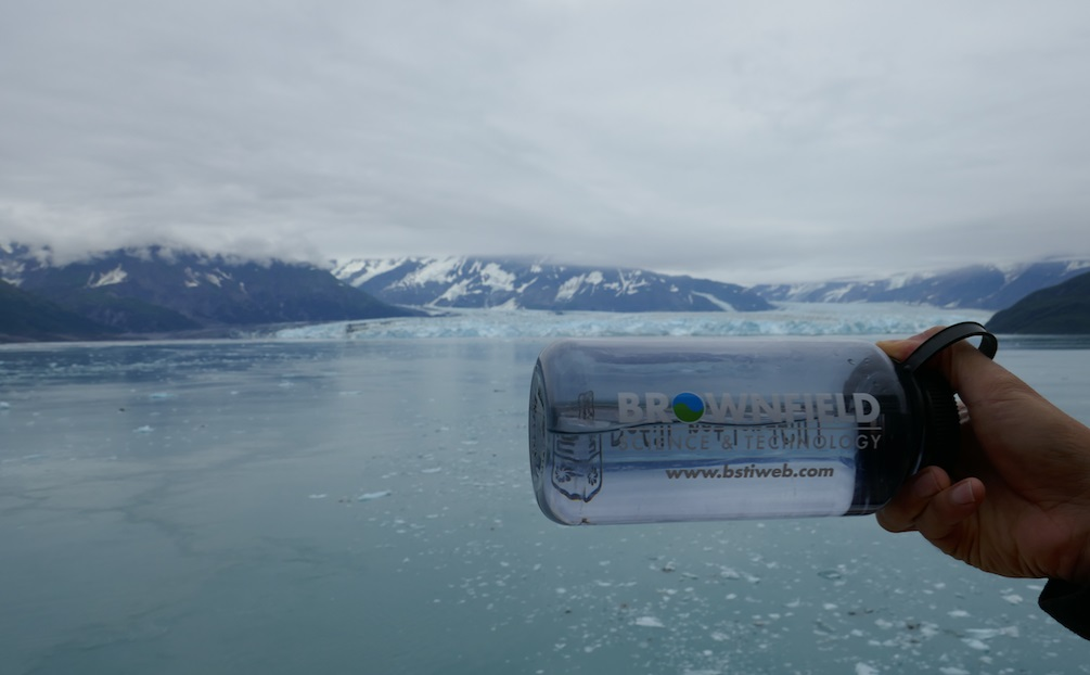 Enjoying the views of the Hubbard Glacier