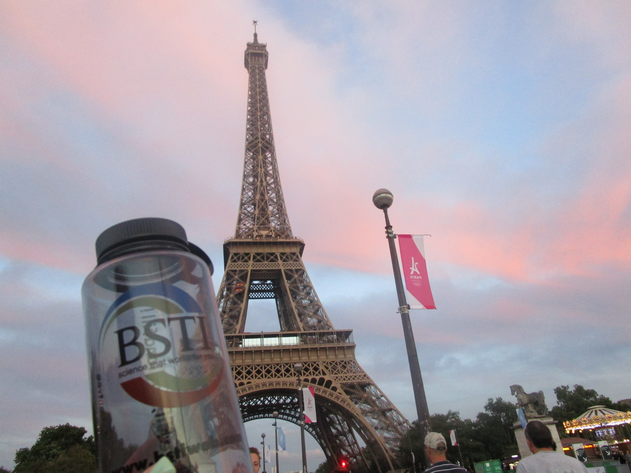 Taking in a beautiful sunset at the Eiffel Tower